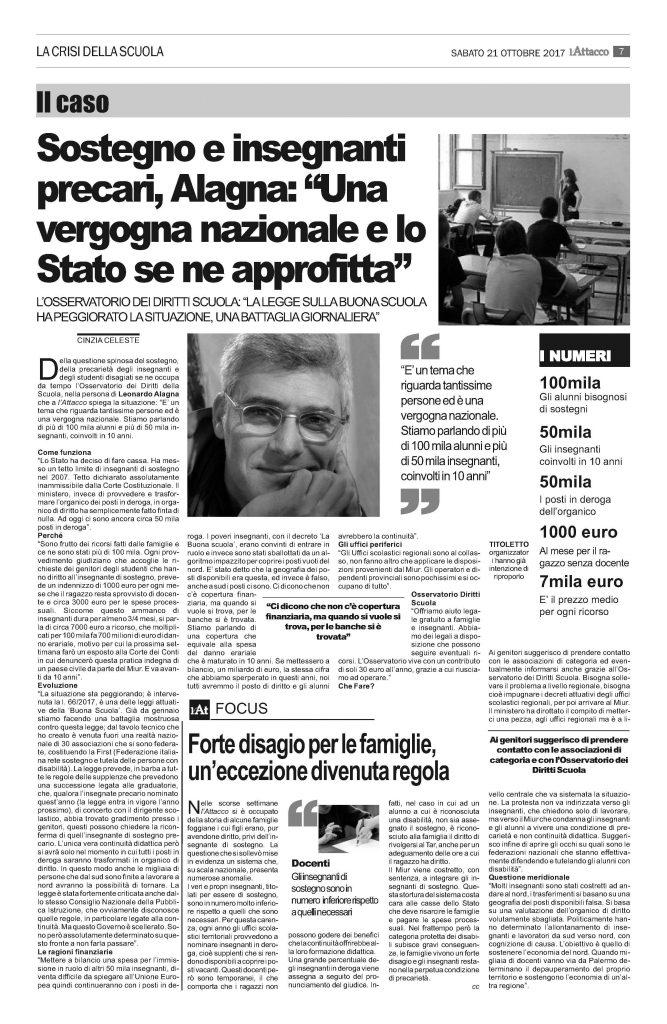 """Sotegno e insegnati precari, Alagna: """"Una vergogna nazionale e lo Stato se ne approfitta"""""""