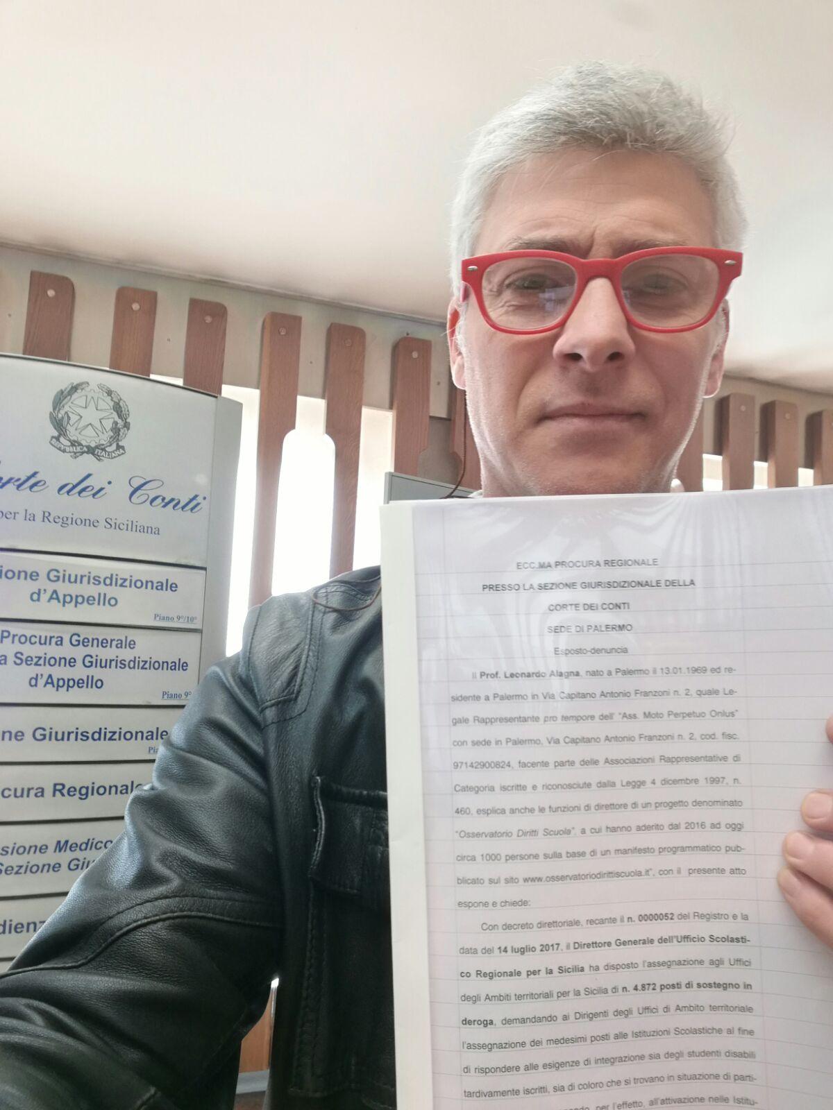 Esposto di ODS alla Corte dei Conti di Palermo contro il MIUR